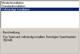 Setup Typ - Vollinstallation